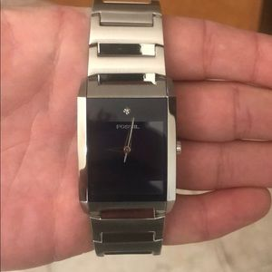 Fossil Watch stainless with diamond